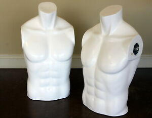 Male Bust Mannequin No Arms