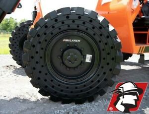 14x24 Telehandler Flat Proof Tire Set Of Four On Rim For Caterpillar And Gehl
