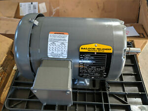 Baldor Reliance Industrial Motor M3554 208 230 460v 3ph 1 5hp 5 8 Shaft