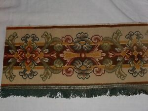 French Antique Tapestry Stripe Hand Made