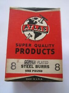 1940 Atlas 8 Copper Plated Rivet Burrs 1 2 Diameter 1 8 Hole 1lb Box 420 Burrs