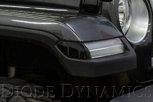 Smoked Led Sidemarkers For 2018 2019 Jeep Jl Wrangler pair Diode Dynamics