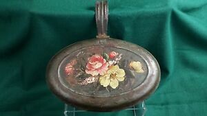 Vtg Collectible Butler S Crumb Tray Repurposed Tole Painted Pretty