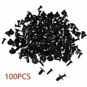 100pcs 6mm Car Plastic Hole Rivets Fastener Fender Bumper Clips