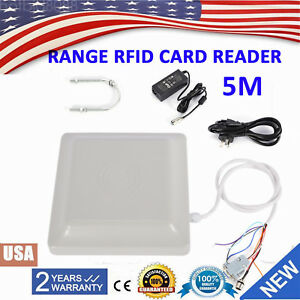 5m Long Distance Uhf Rfid Card Reader For Parking System Wiegand rs232 Interface