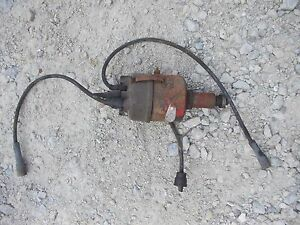 Farmall Ih Tractor Engine Motor Distributor Drive Assembly Plug Wires