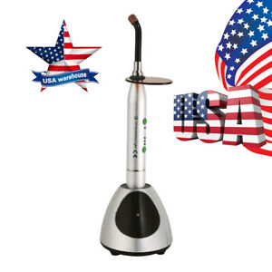Usa Dental Cordless Led Curing Light 2700mw c Cure Lamp Glass Light Guide