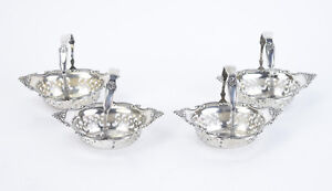 Set 4 Gorham Sterling Silver Cromwell Charming Little Nut Dish Gift Baskets