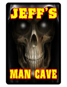 Personalized Man Cave Sign Printed with YOUR NAME REAPER Custom Made Signs D#252