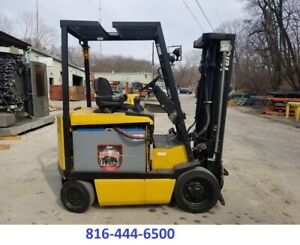 Forklift Electric 3500 Lbs Capacity Great Cushion Tire Sideshift 48v Yale
