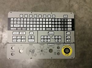 Kearney Trecker Mm800 Milling Machine Cnc Keypad Face 800 01342 18