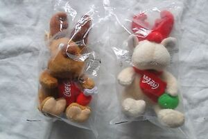 Lot 2 Coca-Cola toy Deers promotional Brown and white deer K 6