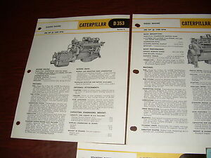 Cat Caterpillar Engine D3535 Price List Brochure Original Antique