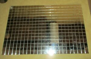 Vintage Art Deco Roll Up Mirror Table Mat W Shipping Container