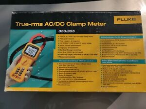 Fluke 353 True Rms 600v 2000a Ac Dc Current Amp Clamp Meter Full Kit Brand New