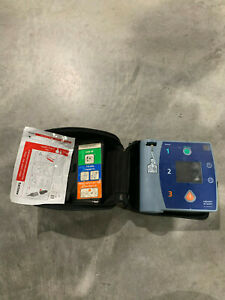 Philips Heartstart Fr2 Aed Defibrillator With Case Battery And Pads Tested