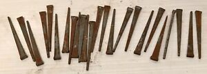 Lot Of 25 Square Cut Authentic Vintage Steel 3 Inch Nails