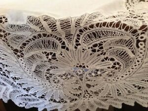 Beautiful Linen Bobbin Lace Deep Lace Circa 1930