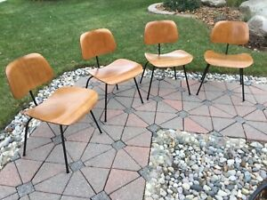 Eames Herman Miller 1950s Dcm Dining Chairs 4
