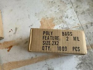 1 1000 2x2 Reclosable 2mil Poly Ziplock Bags Clear Resealable Baggies 2 X 2