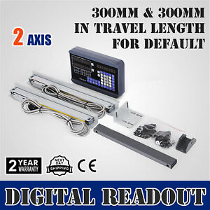 2 Axis Digital Readout Dro 2 300mm Linear Scale Reset Digital Filtering Drilling