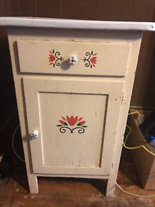 Enamel Top 1920 Cabinet With Drawer