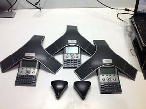 Cisco Polycom Cp 7937g Ip Conference Station Speakerphone Lot Of 3 W 2 Triangle