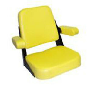 Yellow Vinyl Seat Assembly Jd200yv For John Deere Jd Tractor 2010 3010 3020 4000