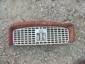 International 240 Utility Tractor Ih Nice Front White Grill Bonnet W Ih Emblem