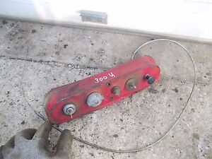 Farmall 350 300 Utility Tractor Ihc Bottom Dash Ignition Switch Start Button Cho