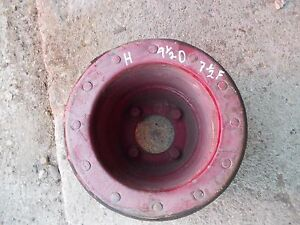 Farmall H Sh 300 350 460 Tractor Orignl Ihc Paper Belt Pulley Real Nice W Bolts