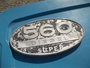 Farmall Ih 560 D Diesel Super Tractor Front Hood Side Panel Oval Emblem