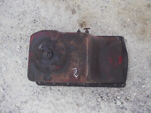 Mccormick Farmall F12 Tractor Ih Engine Motor Oil Pan 2 Pet Cocks Plug