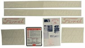 Ford 601 Series 20 Piece Mylar Decal Set 1958 1962 641 651 661 D 6015862