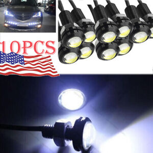 10pcs White Eagle Eye Motor Car 18mm 9w Led Fog Reverse Backup Drl Light Lamp
