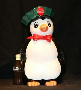 1997 Penguin Coca Cola Cookie Jar Canister Collectible