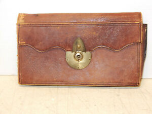 Antique Leather Alphabetized Personal File Circa 1820
