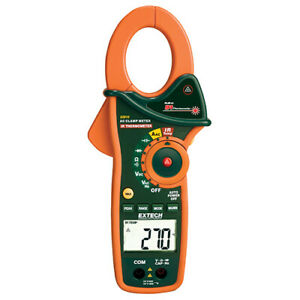 Extech Ex810 Clamp Dmm Infrared Thermometer 1000 Amp Ac 4000 Count