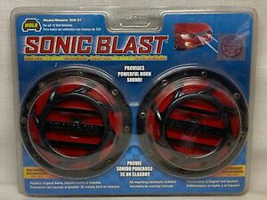 L Wolo 308 2t Sonic Blast Red And Black Painted Horns 12 Volt Low And High