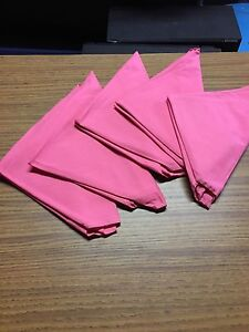 Pink Cloth Dinner Napkins For Wedding Party Catering Or Restaurant 6 Per Set