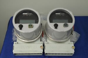Lot Of 2 Schlumberger Vectron Solid State Multifuction Meter In Marwell Casing