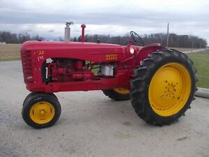 Massey Harris 33 Tractor Hitch Pto 12 4 X 38 Tires Runs Good Grill Screen Fende