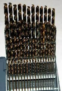 60 Pc Drill America No 1 To 60 M42 8 Cobalt Jobber Drill Set W huot Index
