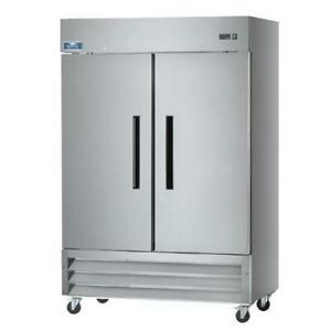 Arctic Air Freezer Af49 2 Door Commercial Reach in Freezer