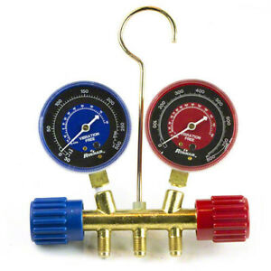 Robinair 41671 R410a Manifold 2 1 2 In Red blue Gauge Set No Hoses