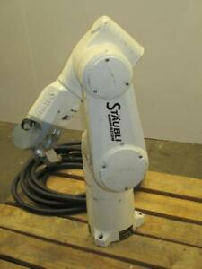 Staubli Unimation Tx60 Increased Flexibility Articulated Robotic Arm And Cable
