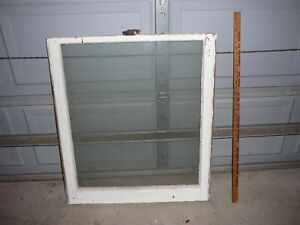 Nice Vintage Wood Window Sash Frame 28x32 Antique Shabby Large Old Glass Pane