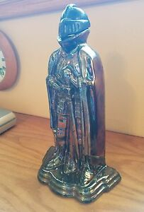 Old Fireplace Tool Holder Knight In Armour Shiny Plated Cast Iron Darth Vadar