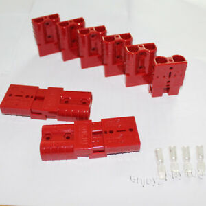 10 Battery Quick Connect Plug Kit 50a 6awg Terminal Connector Disconnect Jumper