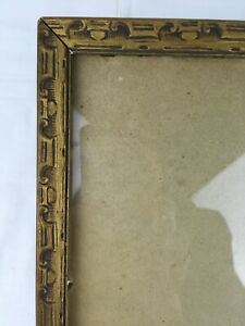 10x12 Vintage Art Deco Ornate Wood Picture Frame Orig Gold Paint